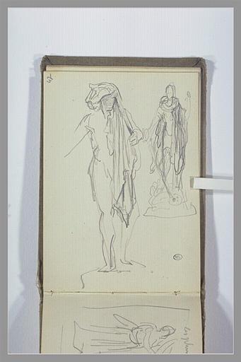CHAPU Henri Michel Antoine : Figure debout, figure debout tenant une épée