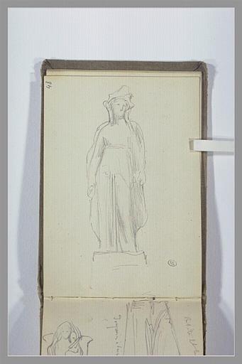 CHAPU Henri Michel Antoine : Statue d'une figure couronnée