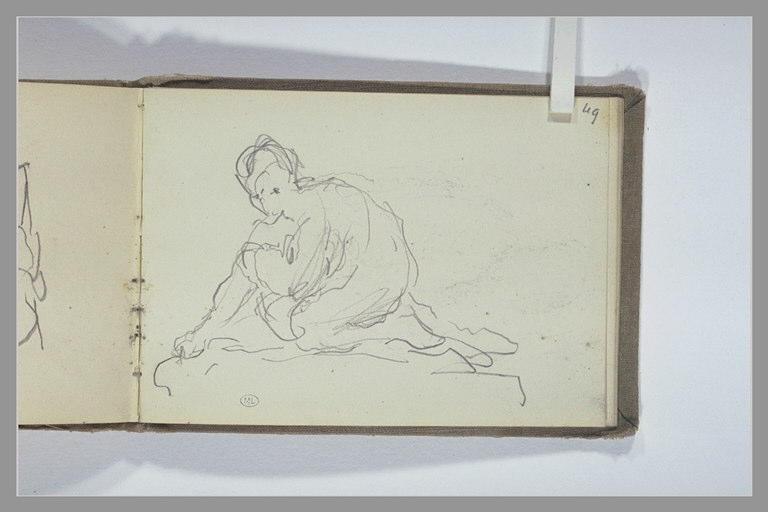CHAPU Henri Michel Antoine : Figure accroupie