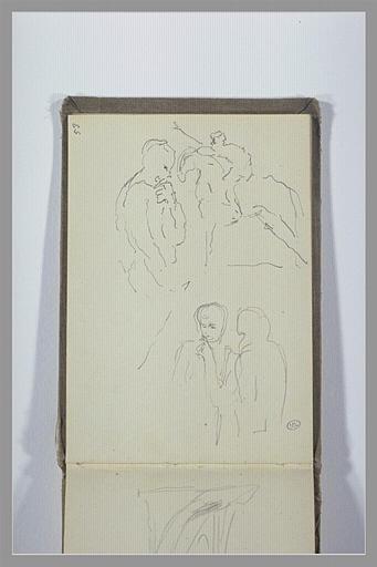 CHAPU Henri Michel Antoine : Etudes de figures et d'un cavalier