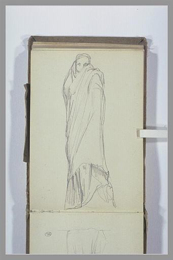 CHAPU Henri Michel Antoine : Figure, debout, drapée