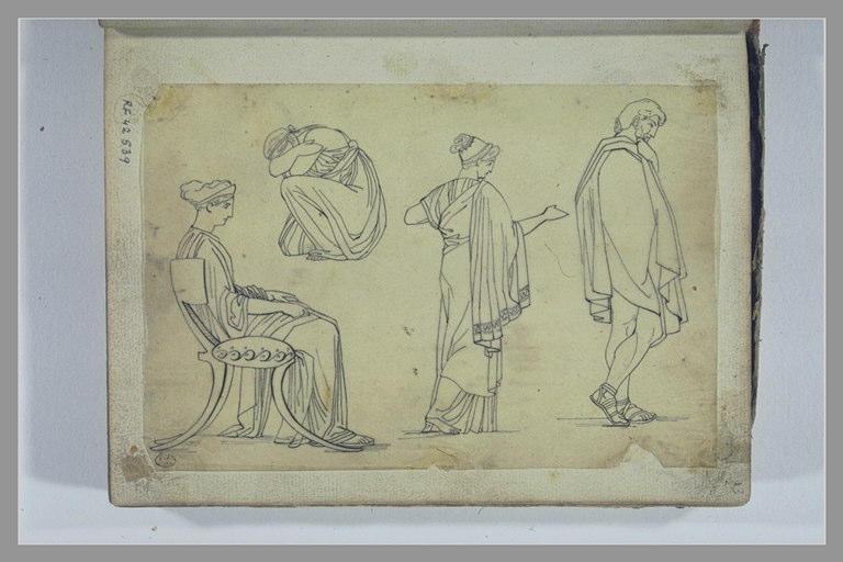 YVON Adolphe : Etude de quatre figures d'après l'antique