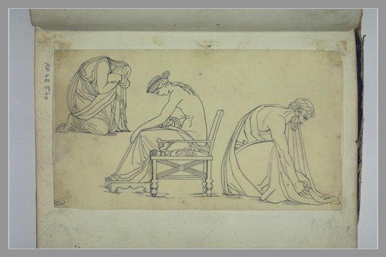 YVON Adolphe : Trois figures d'après l'antique