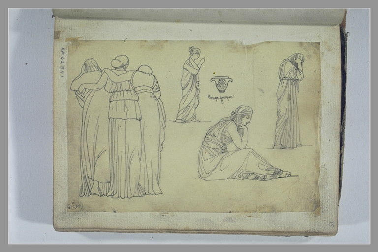 YVON Adolphe : Diverses figures d'après l'antique, et d'une coupe grecque