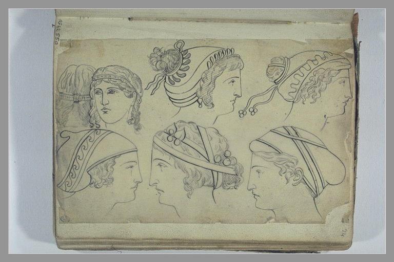 Etudes de têtes d'après l'antique