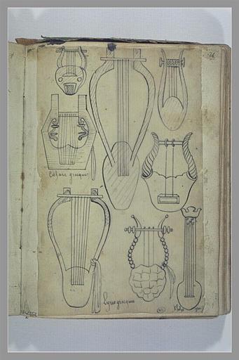 Etudes de lyres et de cithares grecques