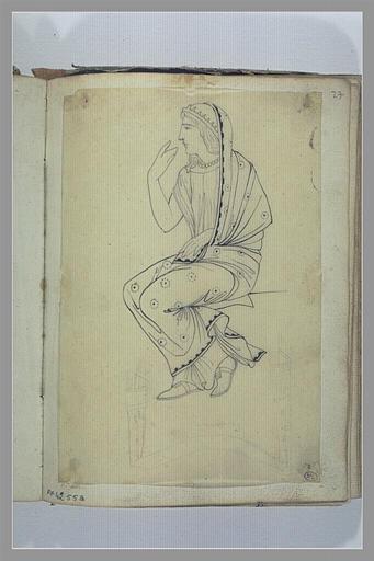 YVON Adolphe : Etude d'une figure d'après l'antique