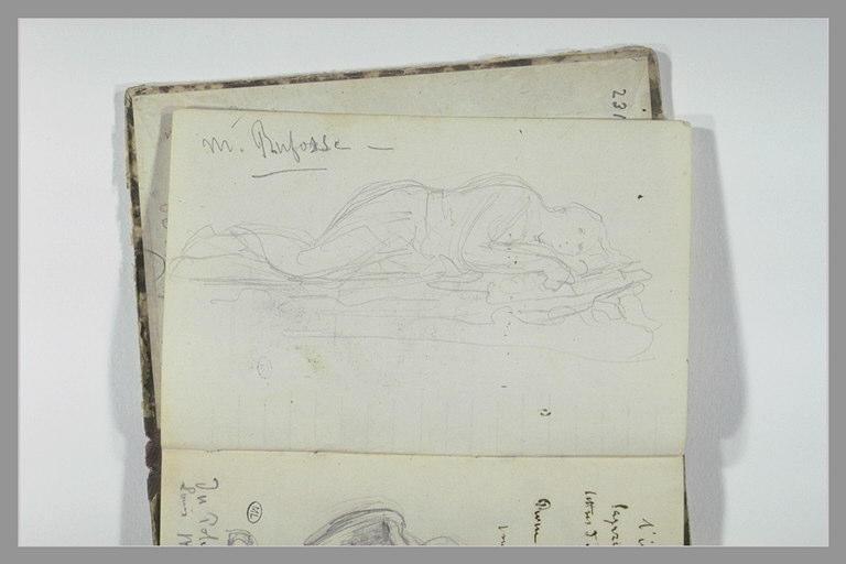 CHAPU Henri Michel Antoine : Figure allongée