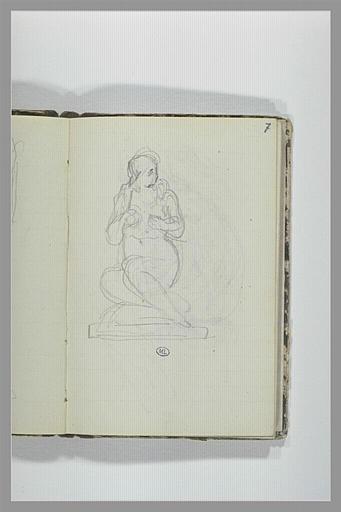 CHAPU Henri Michel Antoine : Femme nue assise