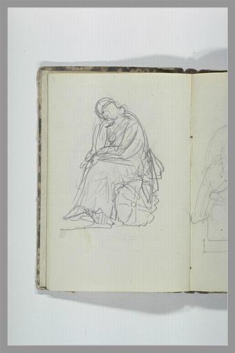 CHAPU Henri Michel Antoine : Figure drapée assise