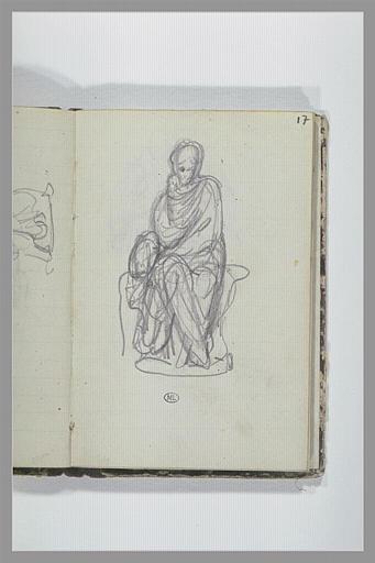 CHAPU Henri Michel Antoine : Une figure drapée assise