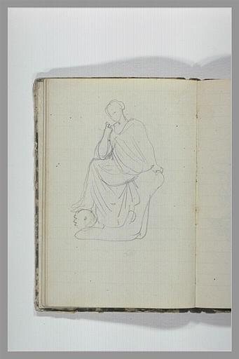 CHAPU Henri Michel Antoine : Une femme drapée assise