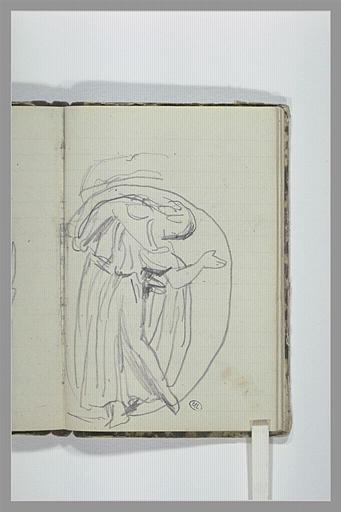 CHAPU Henri Michel Antoine : Une figure drapée, d'après l'antique