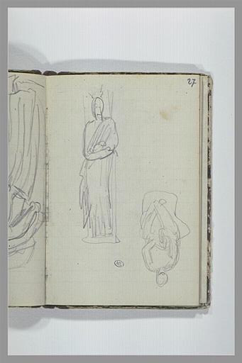 Figure drapée debout ; figure drapée assise