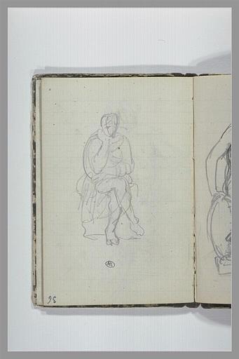 CHAPU Henri Michel Antoine : Une figure assise