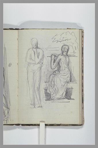 CHAPU Henri Michel Antoine : Figure nue debout, figure drapée, assise