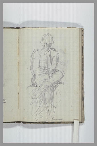 Figure assise, jambes croisées_0