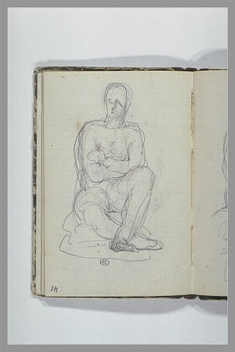 Figure assise, bras croisés_0