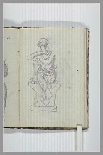 CHAPU Henri Michel Antoine : Une figure drapée assise sur un socle