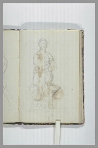 CHAPU Henri Michel Antoine : Femme assise, jambes croisées