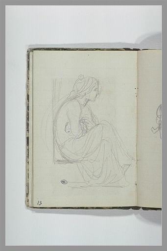 CHAPU Henri Michel Antoine : Femme assise, bras croisés
