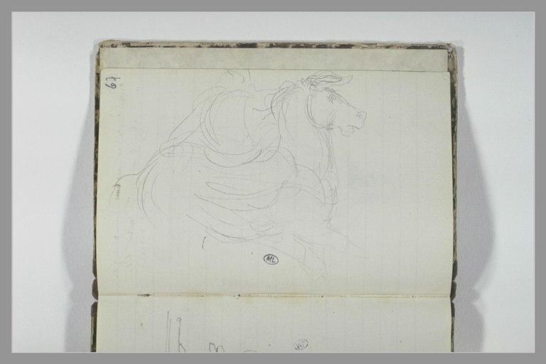 CHAPU Henri Michel Antoine : Cheval et cavalier