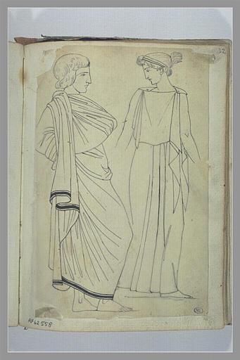Etude de deux figures d'après l'antique
