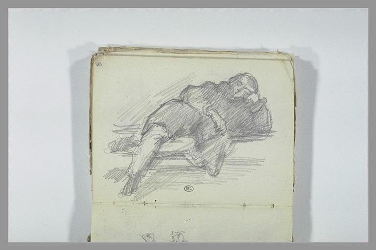 CHAPU Henri Michel Antoine : Un homme endormi