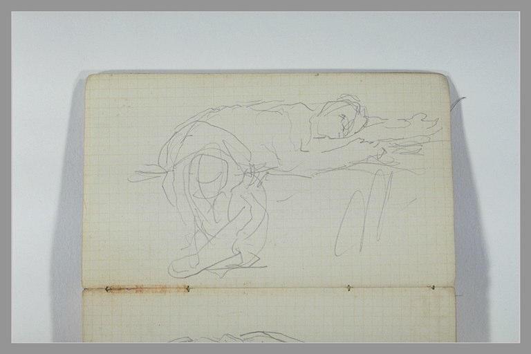 CHAPU Henri Michel Antoine : Figure allongée, les jambes pendantes