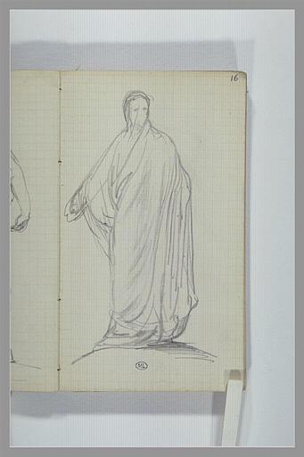CHAPU Henri Michel Antoine : Une figure, debout, drapée