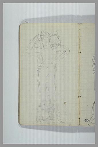Une figure, debout, portant quelque chose sur l'épaule droite_0