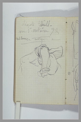 CHAPU Henri Michel Antoine : Epaule et bras, note manuscrite
