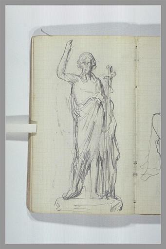 CHAPU Henri Michel Antoine : Statue de saint Jean-Baptiste