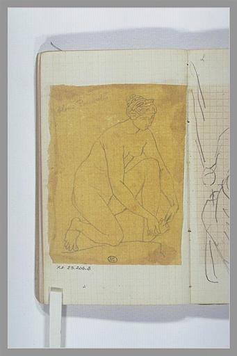 CHAPU Henri Michel Antoine : Femme nue : Vénus (?)
