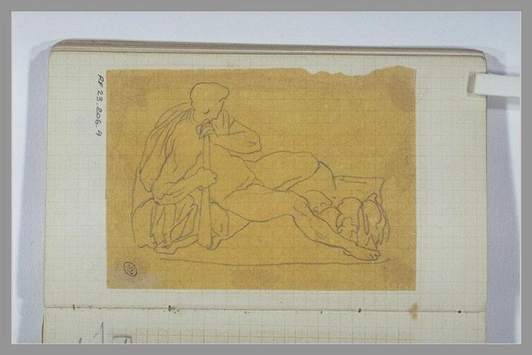CHAPU Henri Michel Antoine : Hercule allongé