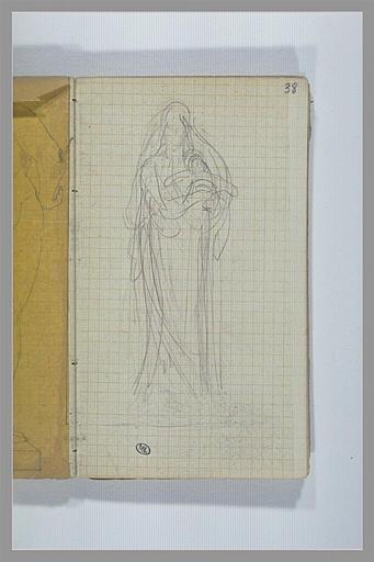CHAPU Henri Michel Antoine : Une femme, debout, portant dans ses bras un enfant