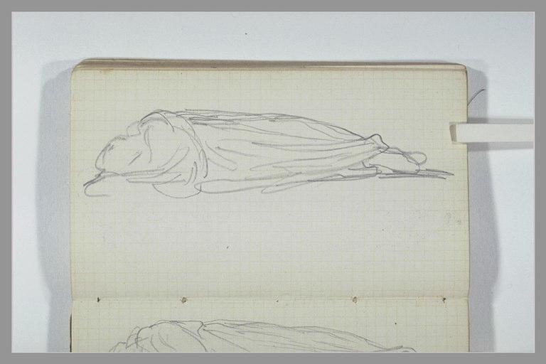 CHAPU Henri Michel Antoine : Une figure drapée allongée sur le côté