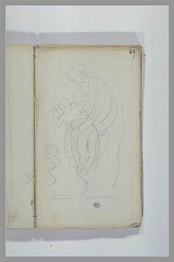 CHAPU Henri Michel Antoine : La Vierge présentant l'Enfant au petit saint Jean