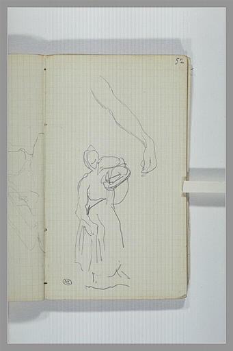 Un baras ; figure portant quelque chose sur l'épaule droite