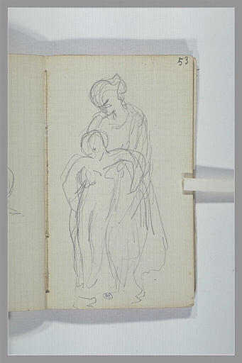 CHAPU Henri Michel Antoine : Une femme soulevant un enfant
