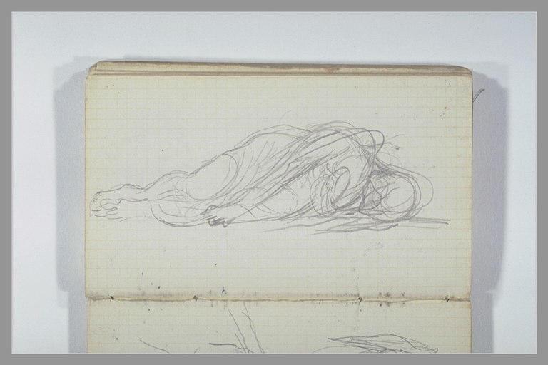 CHAPU Henri Michel Antoine : Une figure allongée sur le côté
