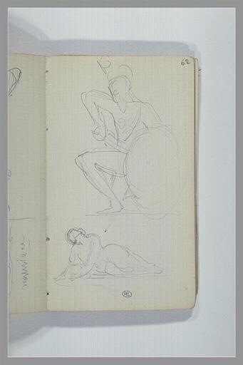 Un guerrier grec ; une figure allongée à terre