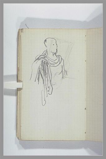CHAPU Henri Michel Antoine : Un homme, en buste, vêtu à l'antique