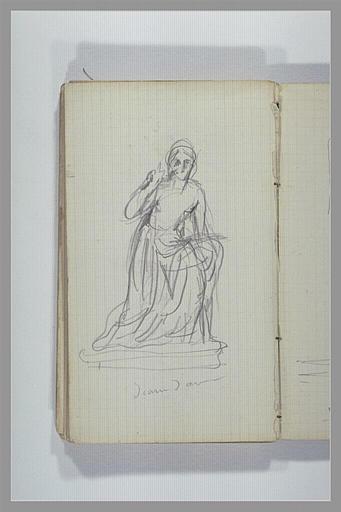 CHAPU Henri Michel Antoine : Une femme, assise, à demi nue