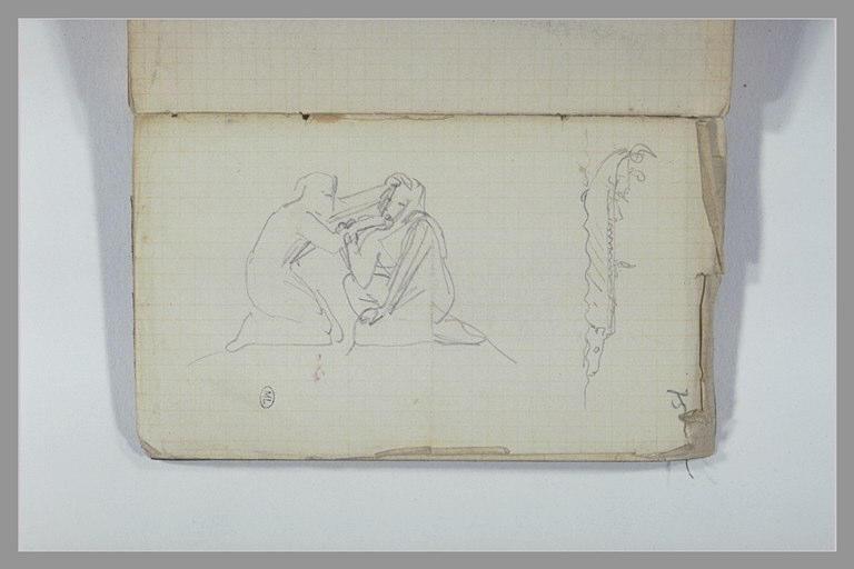 CHAPU Henri Michel Antoine : Une galère, groupe de deux figure