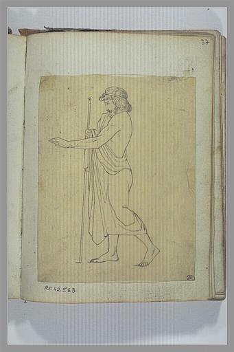 Un homme tenant un bâton, d'après l'antique
