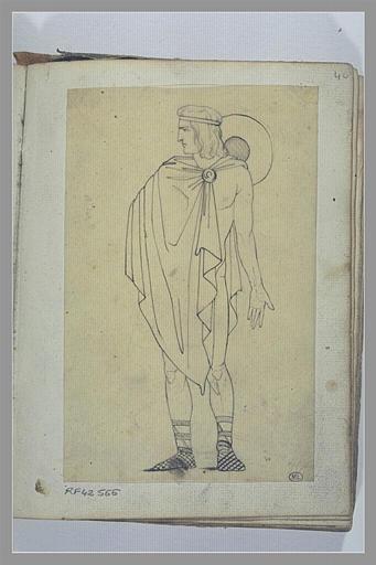 Etude de figure d'après l'antique