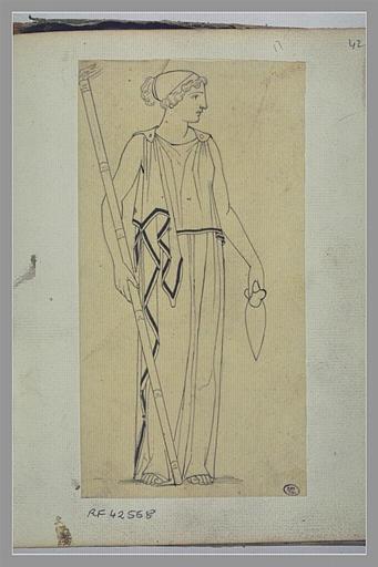 YVON Adolphe : Etude de figure féminine d'après l'antique