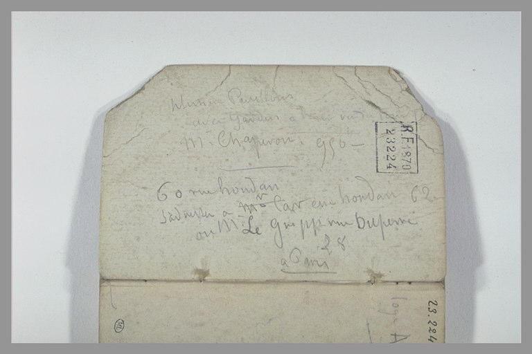 CHAPU Henri Michel Antoine : Notes manuscrites