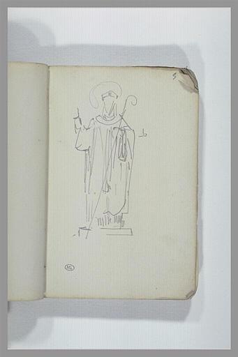 Statue d'un saint évêque